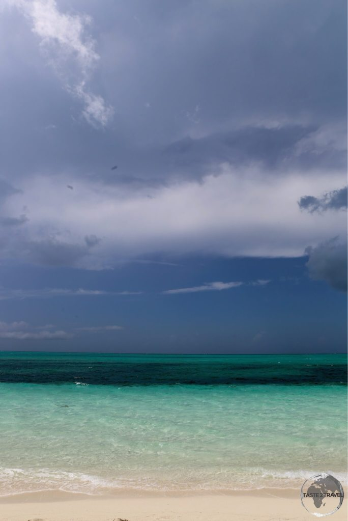 Story skies over Stormy skies over 'The Bight', one of the best beaches on Provo island.
