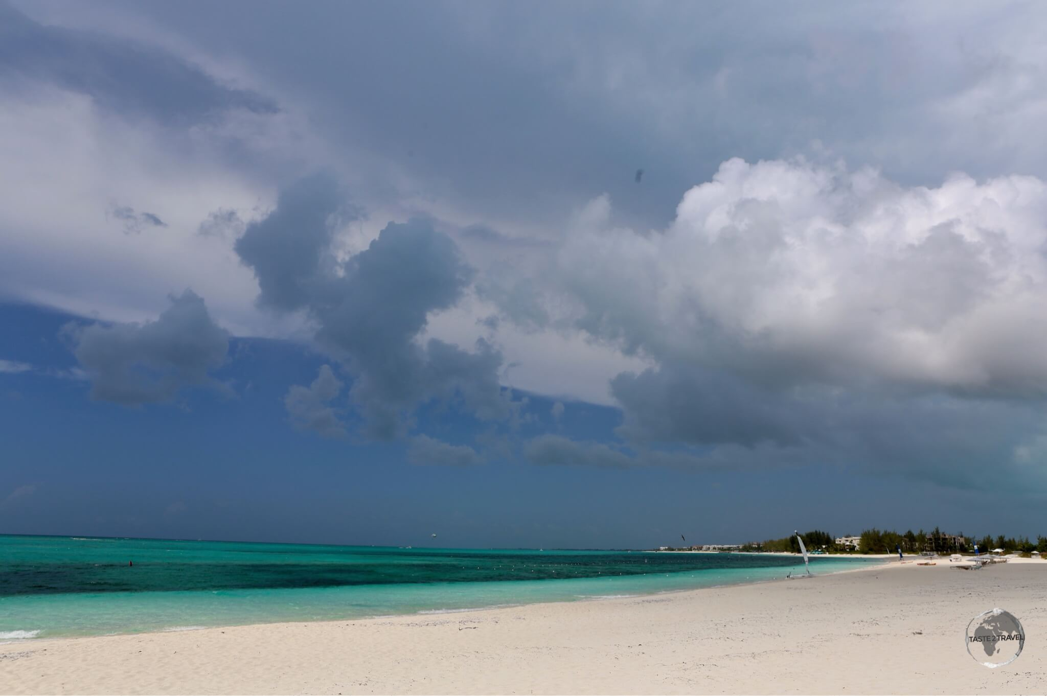 Stormy skies over 'The Bight', my local beach on Provo island.