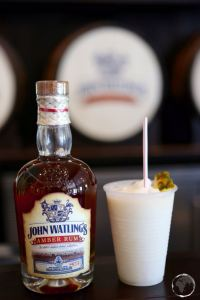 Pina Colada sampler at John Waitlings rum distillery.