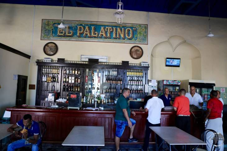 A typical bar in Havana old town.