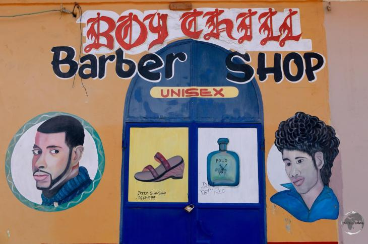 A barber shop in the old town of Cap-Haïtien.