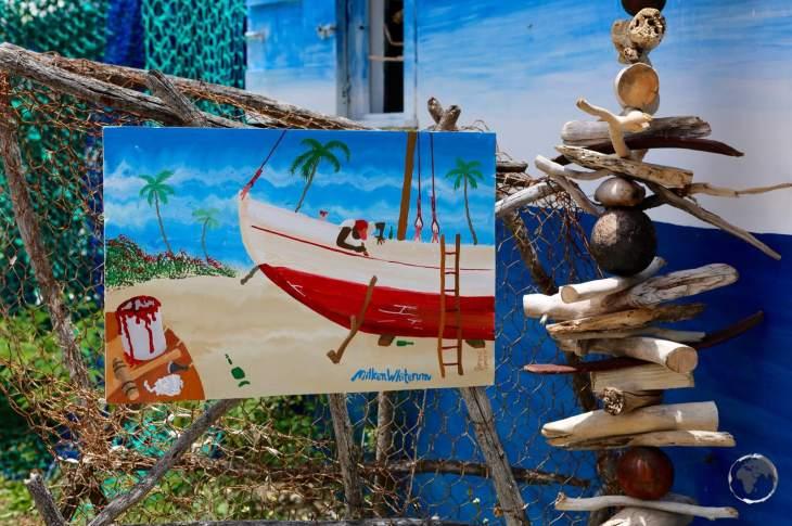 Artist studio in English harbour, Antigua.