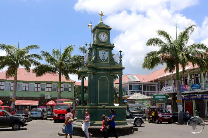 The 'circus' - the centre of Basseterre