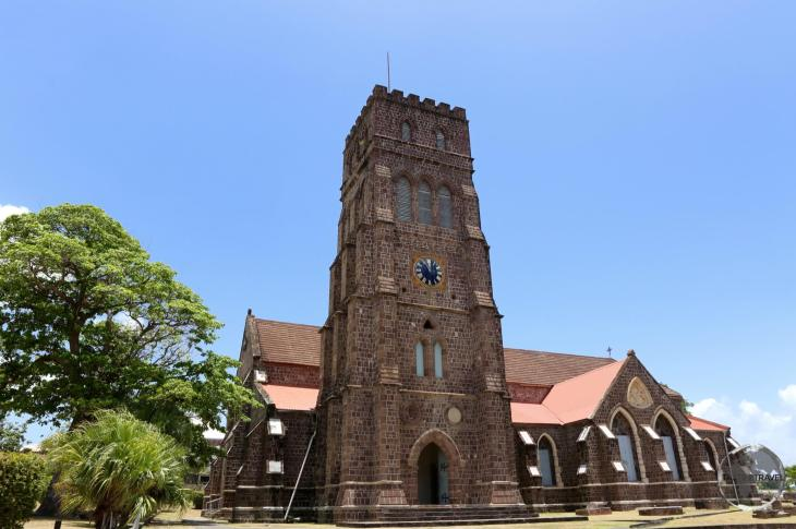 The historic St. George's Anglican Church in Basseterre.