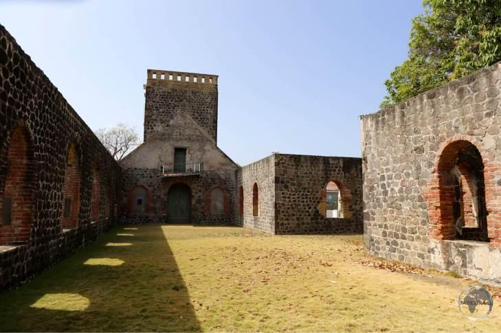 Ruins of the Dutch Reformed church in Oranjestad.