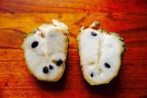 Bisected Custard Apple