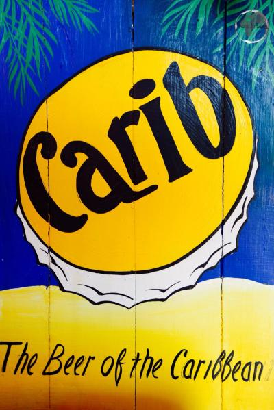 A Carib Beer advertisement on Martinique.