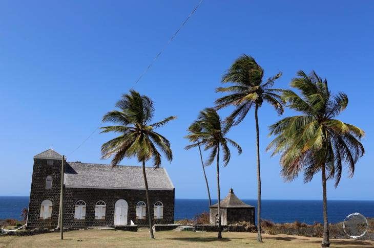 St. Johns Anglican Church at Belle Vue on the north coast of St. Kitts.