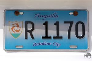 Anguilla License Plate