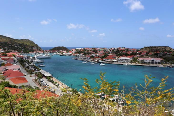 View over Gustavia, the capital of Saint Barts.
