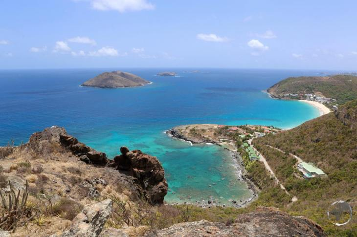 A view of the north coast of St. Barts.