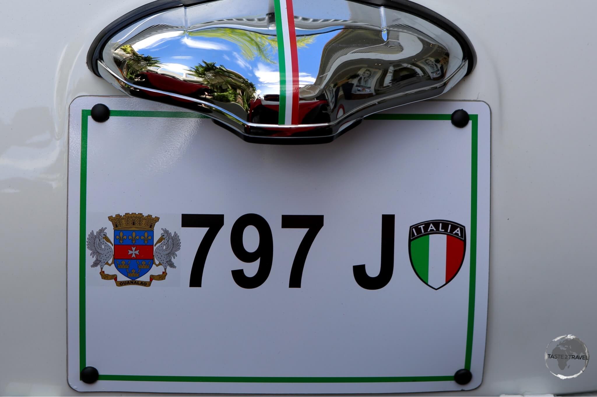 A classic Fiat in Gustavia.