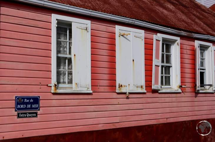 A traditional Swedish-style cottage in Gustavia.