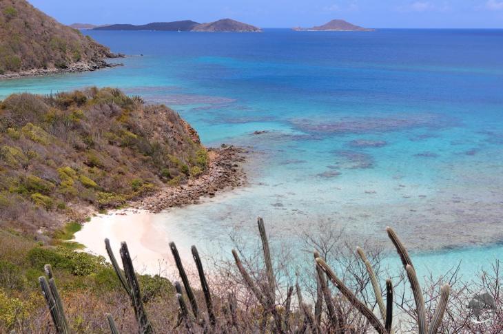 A view of Savannah Bay, Virgin Gorda Island, British Virgin Islands.
