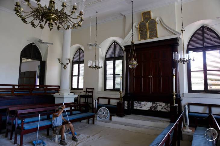 U.S. Virgin Islands Travel Guide: St. Thomas Synagogue in Charlotte Amalie is famous for it's sand floor.