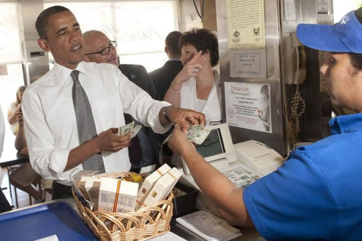 Obama being served at Kasalta. Source: Kasalta.com