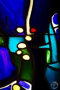 Dominican Republic Travel Guide: Stained-glass window inside the 'Capilla de los Remedios', Santo Domingo