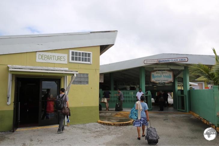Sleepy Majuro Airport, gateway to the Marshall Islands.