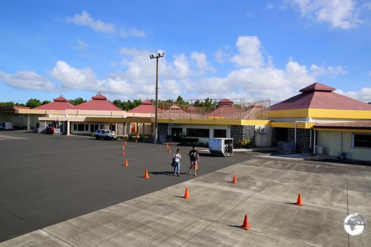 A view of the terminal at Pohnpei airport.