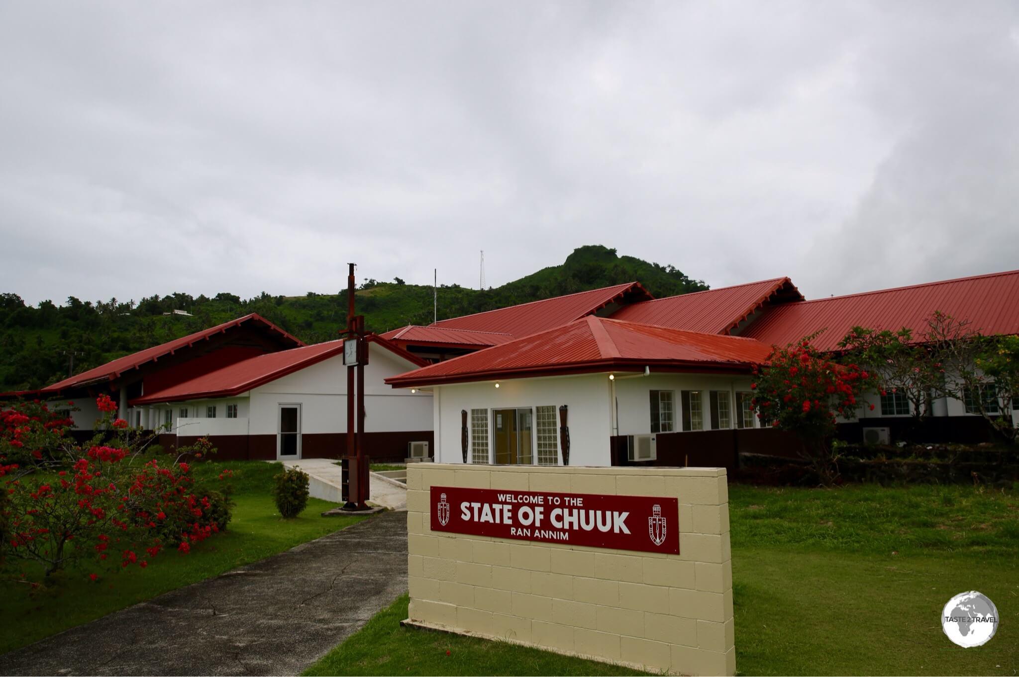 The terminal building at Chuuk International airport.