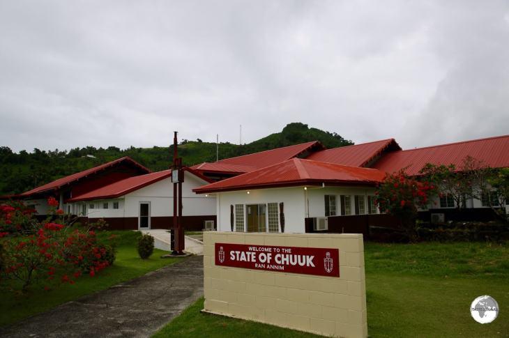 Chuuk Travel Guide: The terminal building at Chuuk International airport.