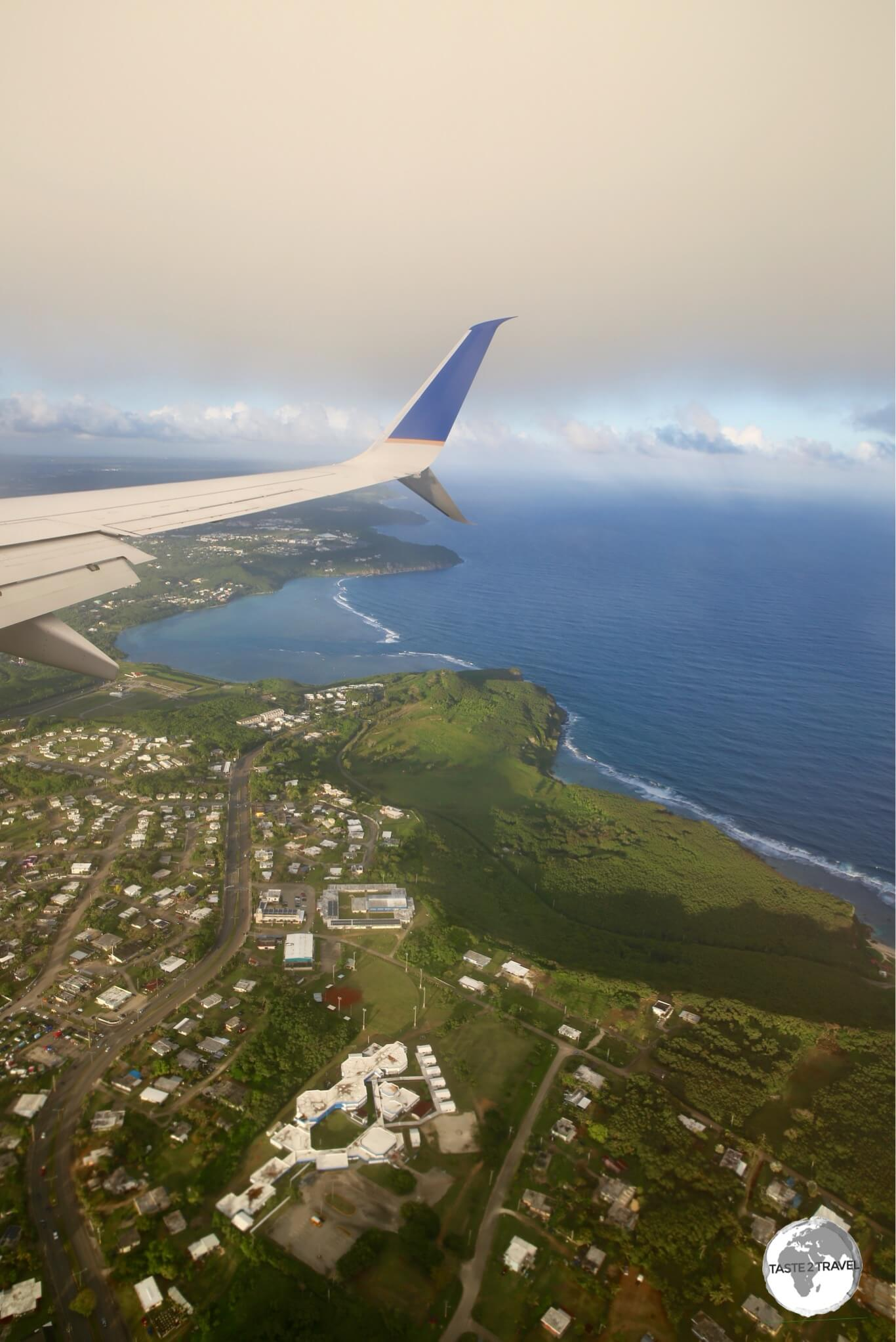 Arriving on Guam from Chuuk on board UA154.