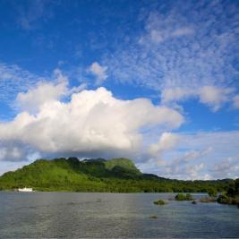 View of Kosrae Island.