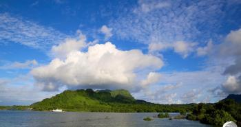 View of Kosrae Island.