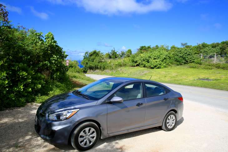 The best way to explore Guam is with a rental car.