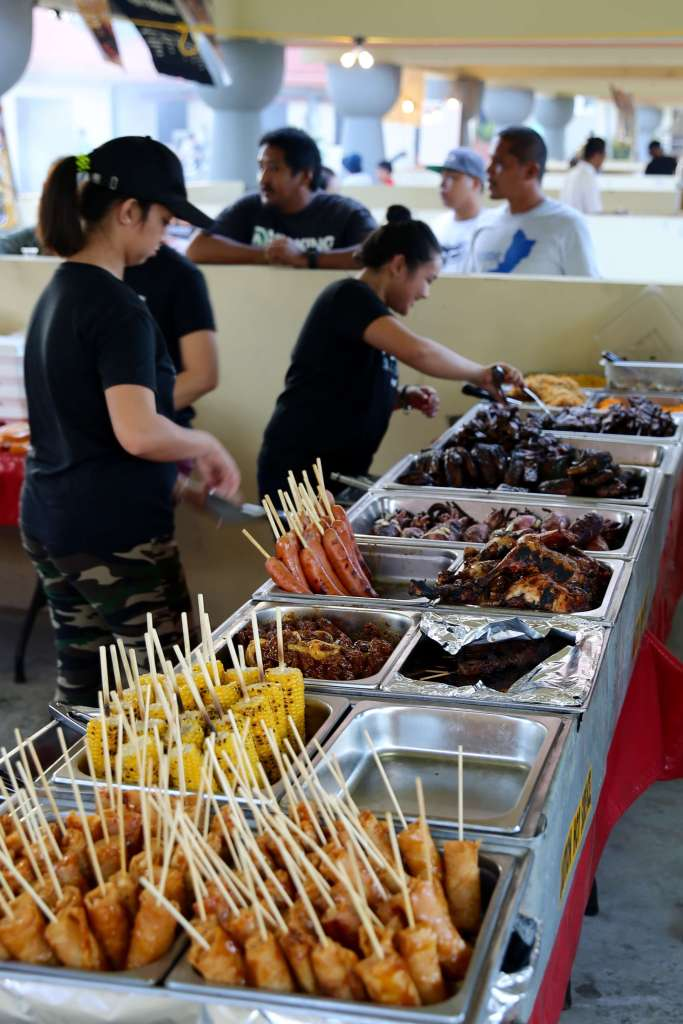 The weekly BBQ at the Chamorro village.