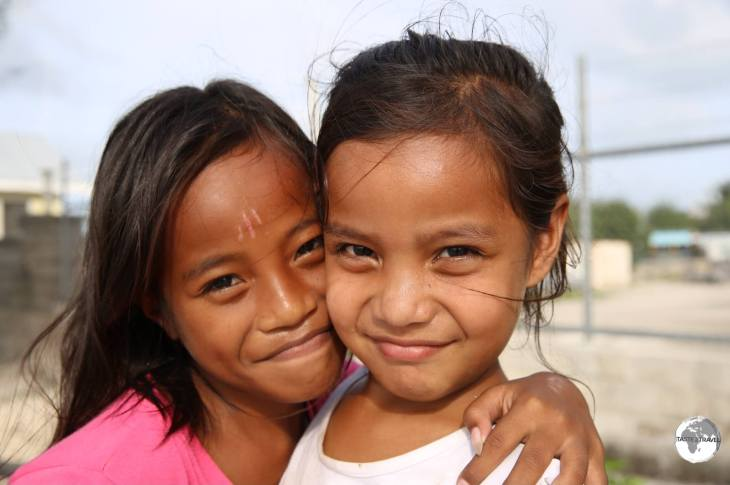 Young girls on Betio Island.