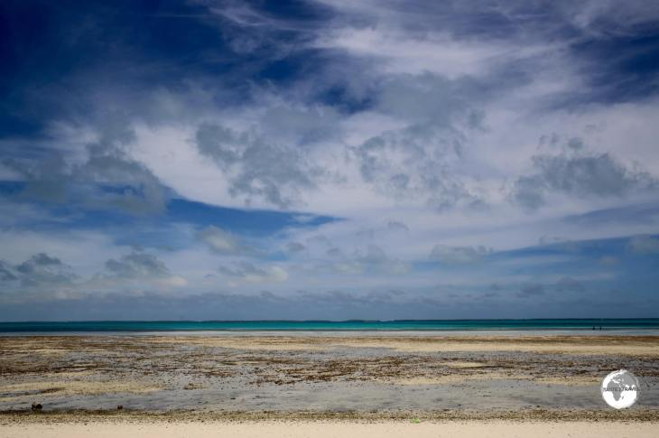 A view of South Tarawa at low tide.
