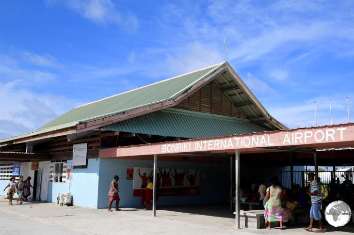 The terminal at Bonriki International Airport.