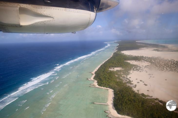 On approach to Maiama island - one of the outer islands.
