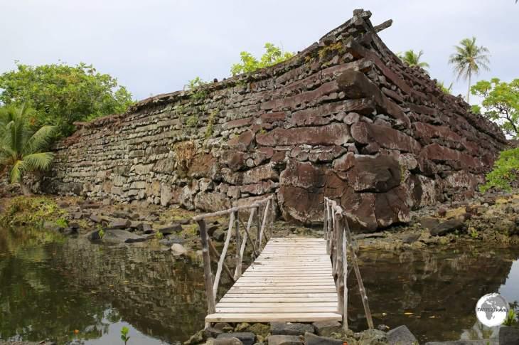 The impressive walls of Nan Madol.