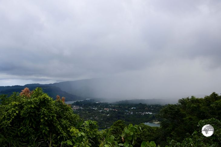 Storm moving over the capital - Kolonia, Pohnpei