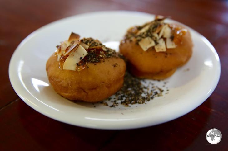 The amazing pepper donuts at Sei Cafe - a fiery experience!