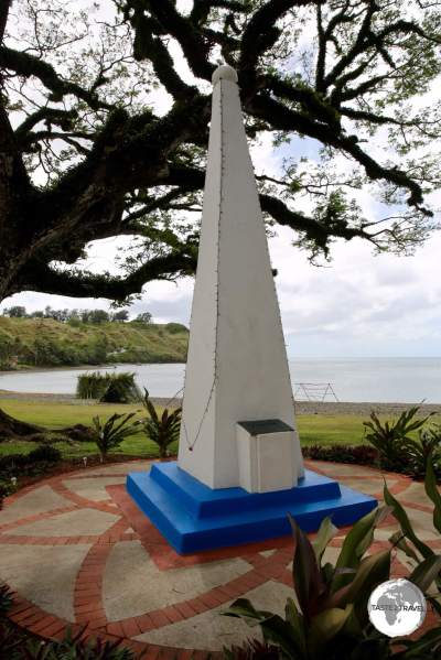 Magellan's obelisk at Umatac bay.