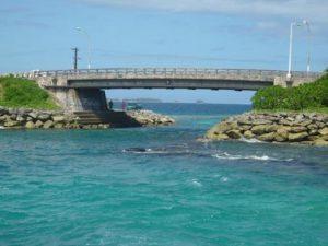 Majuro Bridge connects Delap island to Long island
