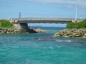 Majuro Bridge connects Delap island to Long island