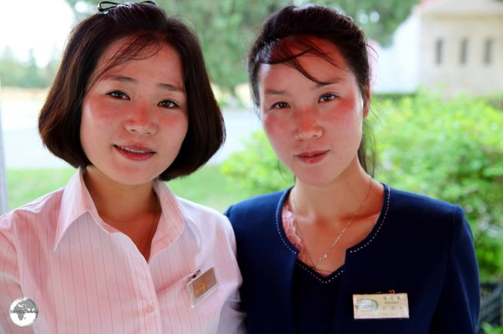 Service centre staff at the Sohung Rest House.