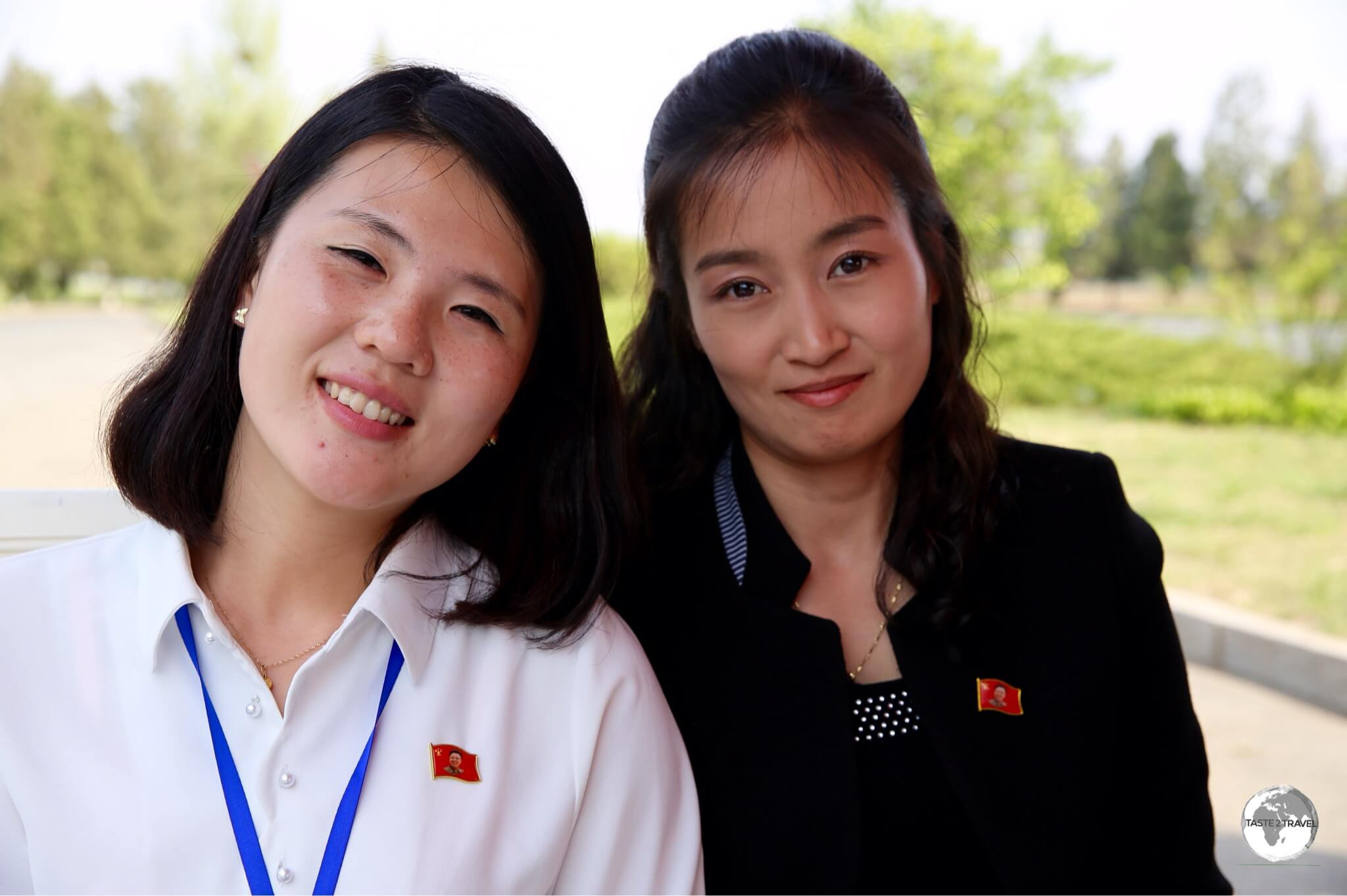 Our KITC tour guide (left) and our minder – Mrs Park.