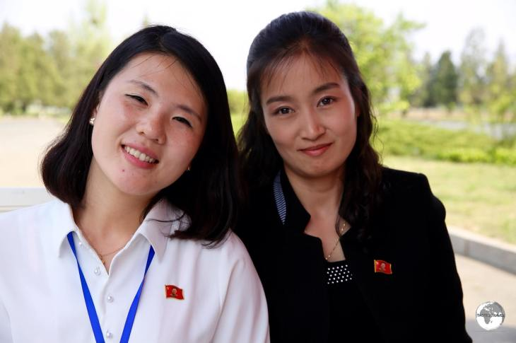Our KITC tour guide (left) and our minder - Mrs Park.