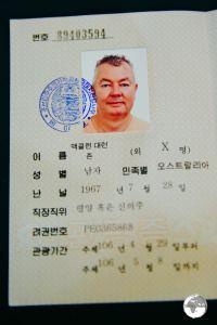 DPRK tourist visa.