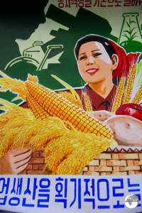 North Korea Travel Guide: Hand-painted propaganda posters are popular souvenirs.