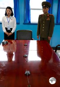 This table sits directly on the border between North And South Korea.
