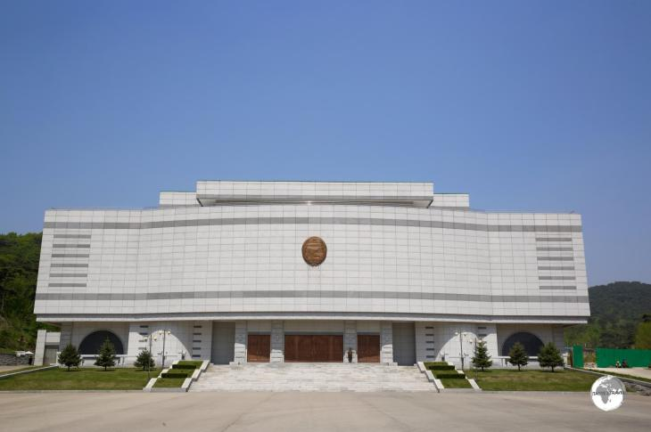 The International Friendship Exhibition Hall in Pyongyang.