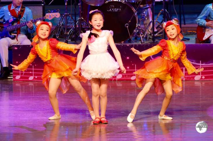 Young performers at the Mangyongdae Schoolchildren's Palace in Pyongyang.
