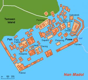 Diagram of Nan Madol
