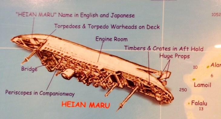 Heian Maru wreck.